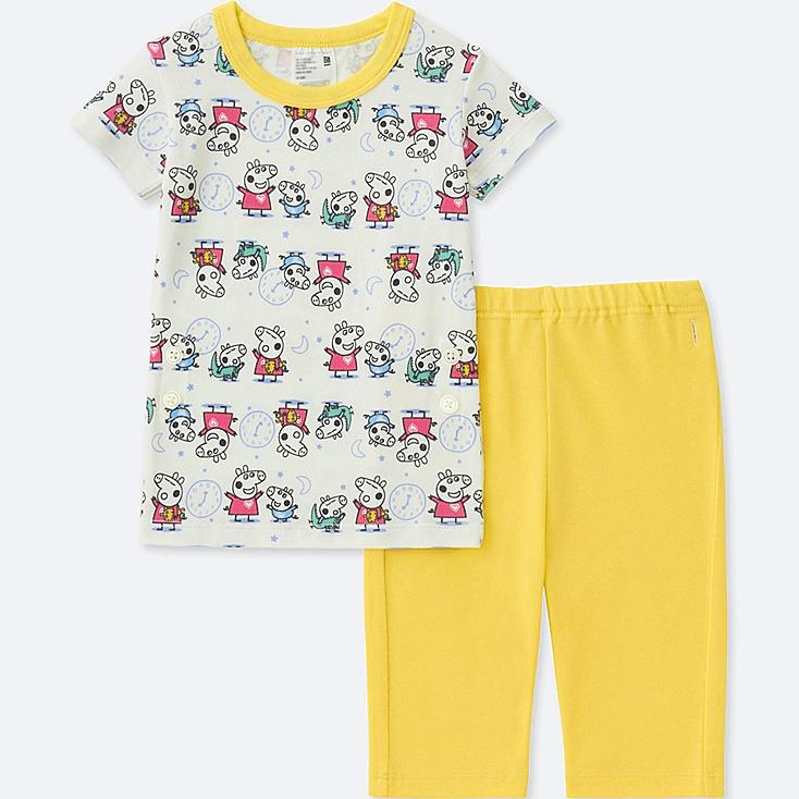 TODDLER PEPPA PIG SHORT-SLEEVE DRY PAJAMAS, YELLOW, large
