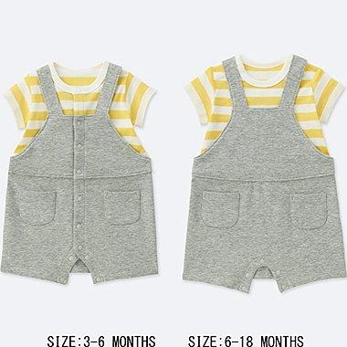 BABY COORDINATED SHORT ALL, YELLOW, medium