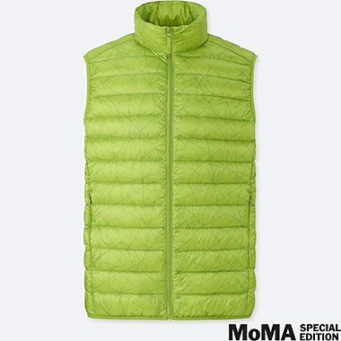 MEN SPRZ NY ULTRA LIGHT DOWN VEST (Sol LeWitt), GREEN, medium