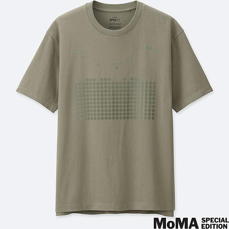 MEN SPRZ NY  GRAPHIC T-SHIRT (Josef Albers), GREEN, large