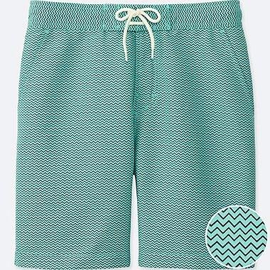 Men Swim Active Printed Shorts, GREEN, medium