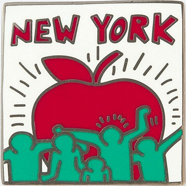 SPRZ NY PIN (KEITH HARING), GREEN, medium
