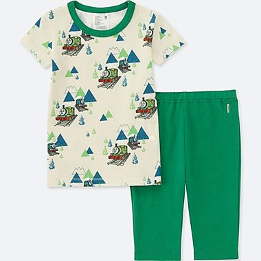 TODDLER THOMAS & FRIENDS SHORT-SLEEVE DRY PAJAMAS, GREEN, medium