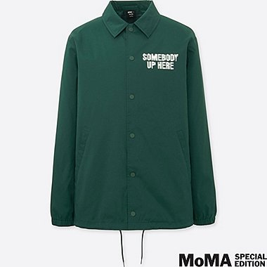 MEN SPRZ NY COACH JACKET (CORITA KENT), GREEN, medium