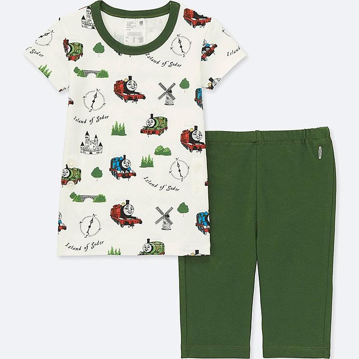 Toddler Short Sleeve Pajamas (Thomas & Friends), OLIVE, large