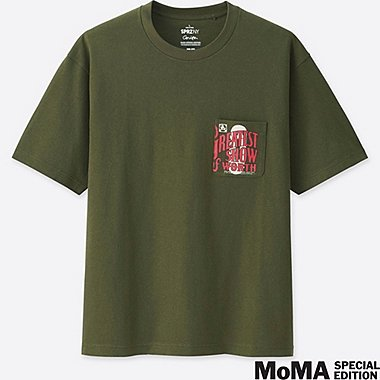 MEN SPRZ NY SHORT-SLEEVE GRAPHIC T-SHIRT (Corita Kent), OLIVE, medium