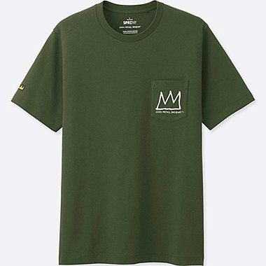 MEN SPRZ NY JEAN-MICHEL BASQUIAT SHORT-SLEEVE GRAPHIC T-SHIRT, OLIVE, medium