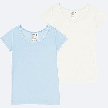 TODDLER AIRISM MESH T-SHIRT 2-PACK, LIGHT BLUE, medium
