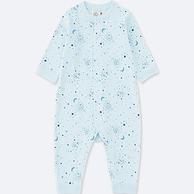 NEWBORN LONG-SLEEVE ONE-PIECE OUTFIT, LIGHT BLUE, medium