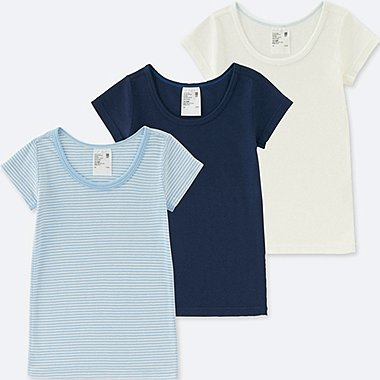 TODDLER COTTON INNER SHORT-SLEEVE T-SHIRT 3 PACK, BLUE, medium