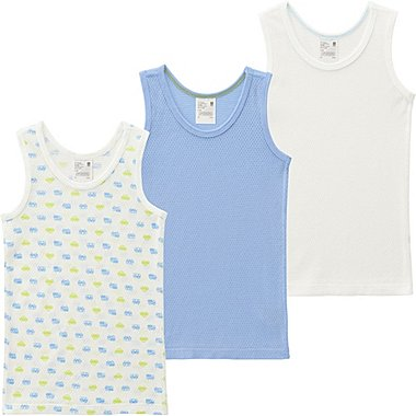 Toddler Mesh Tank Top Undershirt, 3 Pack, BLUE, medium
