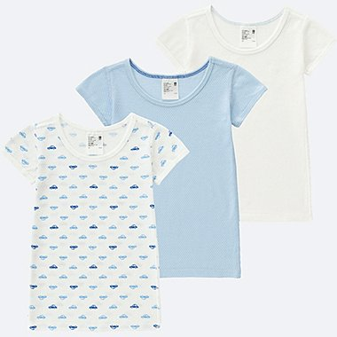 TODDLER COTTON MESH SHORT-SLEEVE T-SHIRT 3-PACK, BLUE, medium