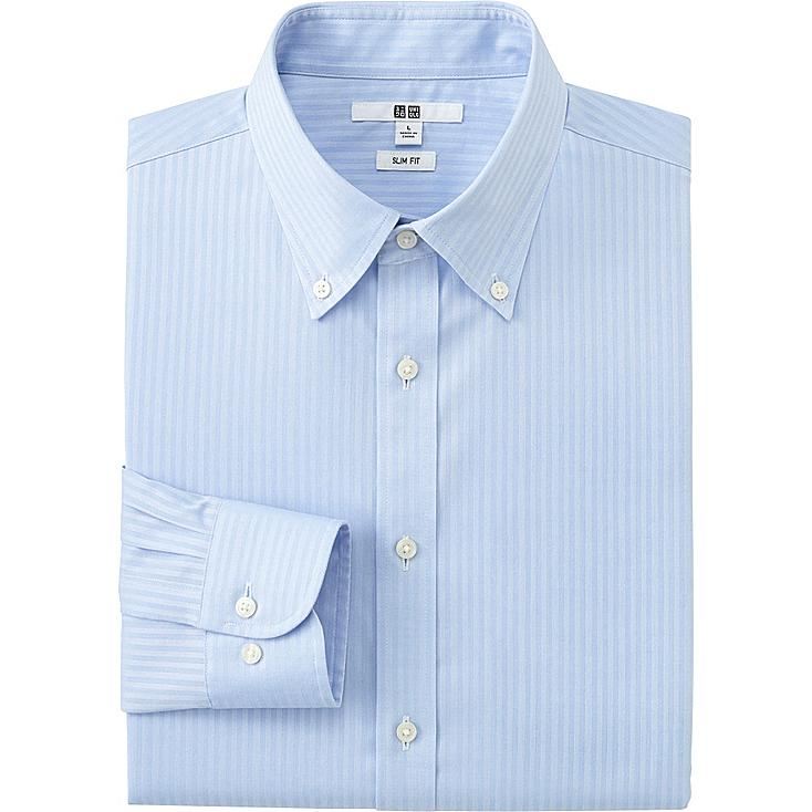 men 39 s easy care slim fit dress shirt uniqlo us