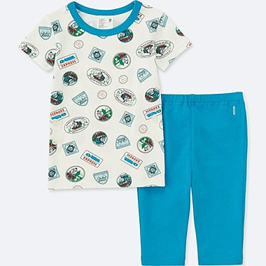TODDLER THOMAS & FRIENDS SHORT-SLEEVE DRY PAJAMAS, BLUE, medium
