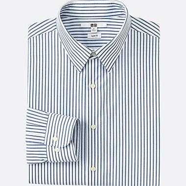 Mens Easy Care Oxford Slim-Fit Dress Shirt, BLUE, medium
