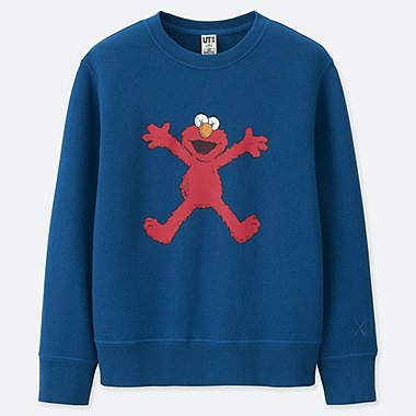 KIDS KAWS X SESAME STREET SWEATSHIRT, BLUE, medium