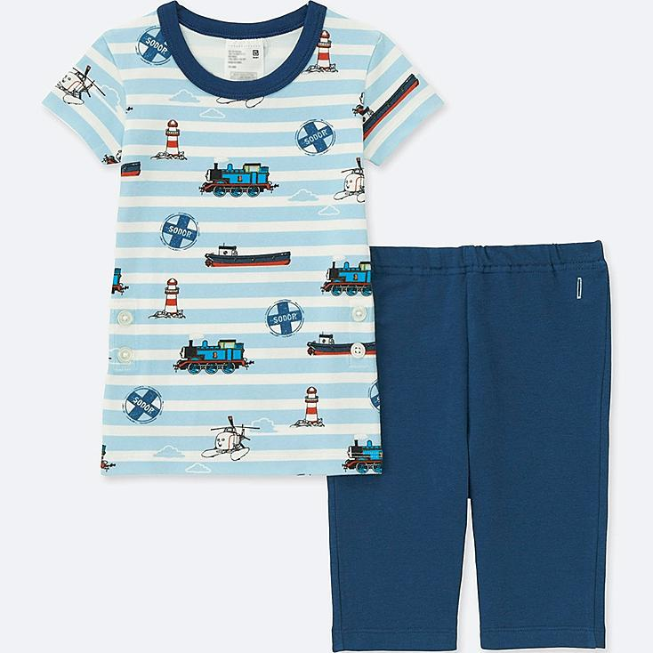 Toddler Short Sleeve Pajamas (Thomas & Friends), BLUE, large
