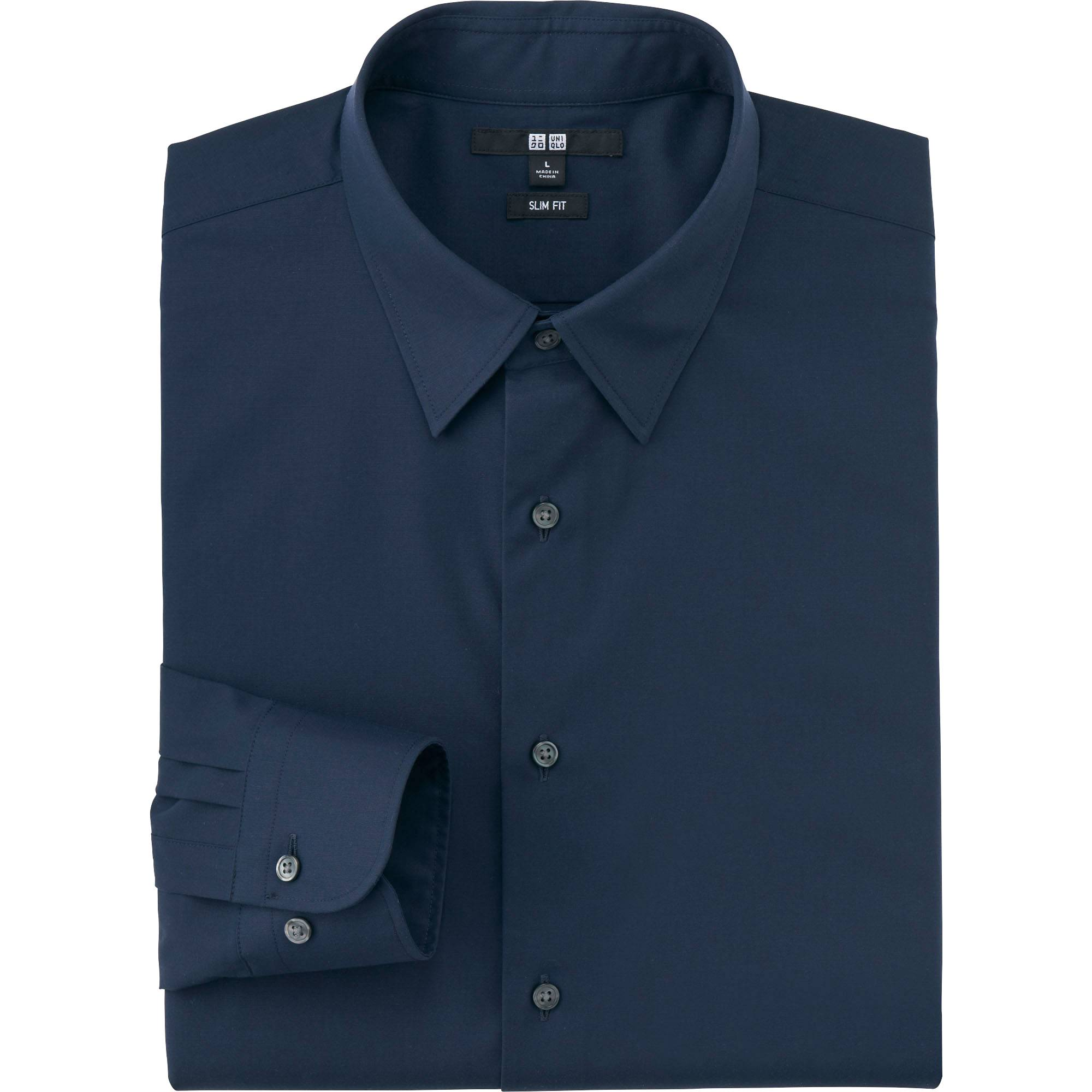 Men's Easy Care Broadcloth Slim-Fit Dress Shirt | UNIQLO US
