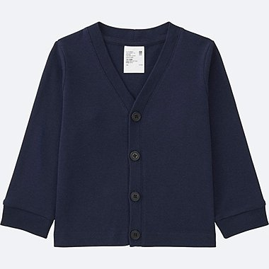 TODDLER COTTON LONG SLEEVE CARDIGAN, NAVY, medium