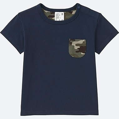 TODDLER CREWNECK SHORT-SLEEVE T-SHIRT, NAVY, medium