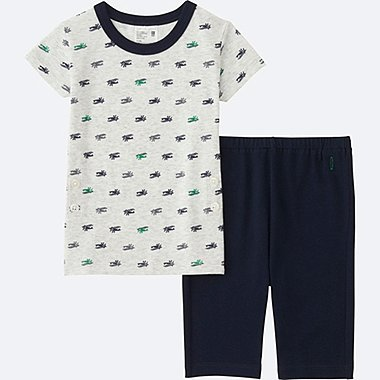 TODDLER DRY PAJAMAS SHORT-SLEEVE, NAVY, medium