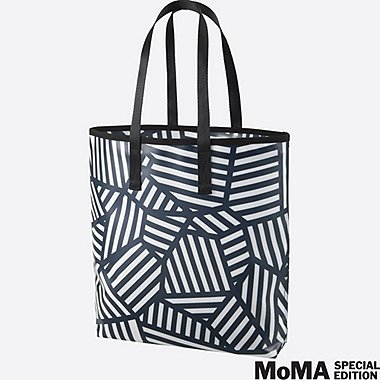 SPRZ NY SUPER GEOMETRIC TOTE BAG (SOL LEWITT), NAVY, medium