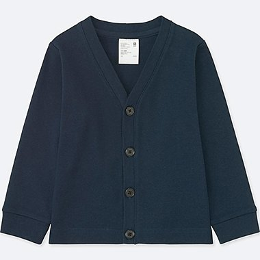 TODDLER COTTON LONG-SLEEVE CARDIGAN, NAVY, medium