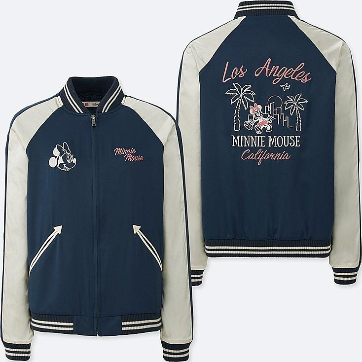 WOMEN MICKEY TRAVELS SOUVENIR JACKET, NAVY, large