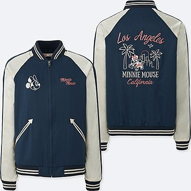 WOMEN MICKEY TRAVELS SOUVENIR JACKET, NAVY, medium