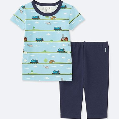 TODDLER THOMAS & FRIENDS SHORT-SLEEVE DRY PAJAMAS, NAVY, medium