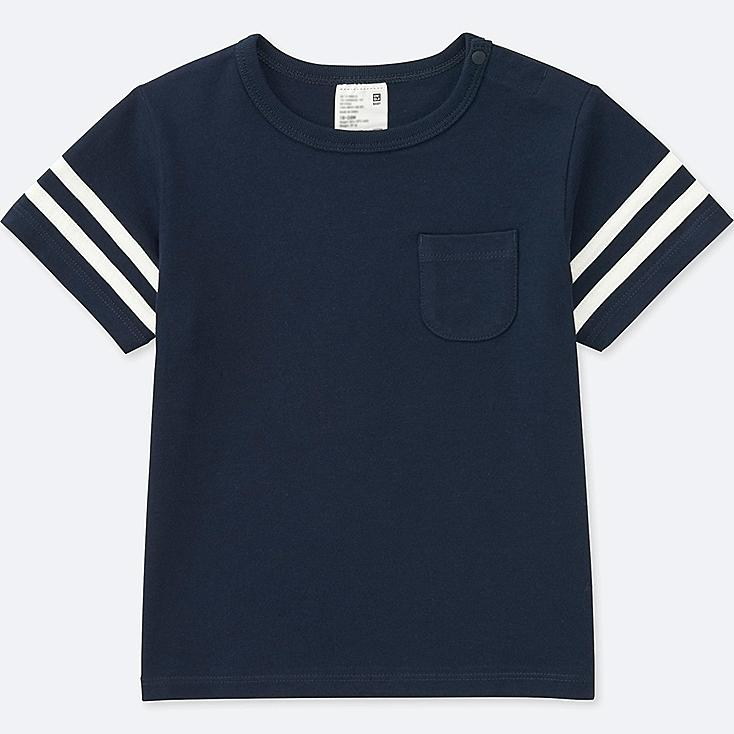 TODDLER CREWNECK SHORT-SLEEVE T-SHIRT, NAVY, large