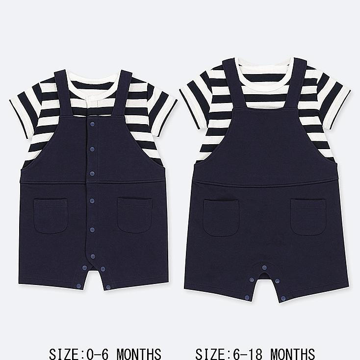 NEWBORN COORDINATED SHORT ALL, NAVY, large