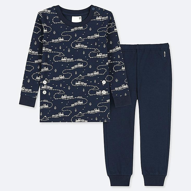 TODDLER LONG-SLEEVE PAJAMAS, NAVY, large