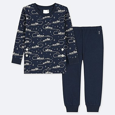 TODDLER LONG-SLEEVE PAJAMAS, NAVY, medium