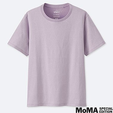 WOMEN SPRZ NY SHORT-SLEEVE GRAPHIC T-SHIRT (SOL LEWITT), PURPLE, medium
